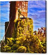 Grain Silos With Digital Painted Effect Canvas Print