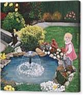 Gramma Nanna S Pond Canvas Print
