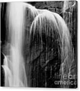 Grampians Waterfall Bw Canvas Print
