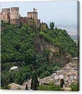 Granada - Alhambra Towers Canvas Print