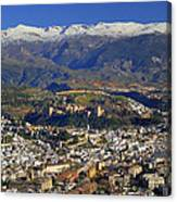 Granada And The Alhambra Canvas Print