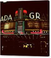 Night Lights Granada Theater Canvas Print