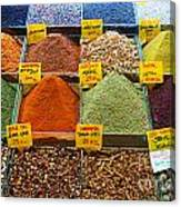 Grand Bazaar Spices In Istanbul Canvas Print