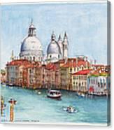 Grand Canal And Santa Maria Della Salute Venice Canvas Print