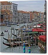 Grand Canal From Rialto Bridge Canvas Print