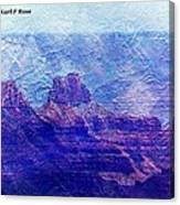 Grand Canyon As A Painting 2 Canvas Print