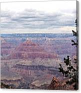 Grand Canyon Awaiting Snowstorm Canvas Print