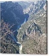 Grand Canyon Du Verdon Overview Canvas Print