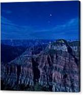 Grand Canyon In Moonlight Canvas Print