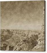 Grand Canyon National Park Mary Colter Designed Desert View Watchtower Vintage Canvas Print