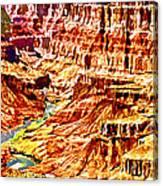 Grand Canyon Navajo Painting Canvas Print