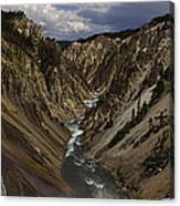 Grand Canyon Of The Yellowstone - 25x63 Canvas Print