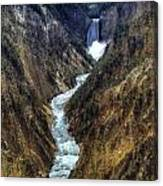 Grand Canyon Of Yellowstone - From Artist Point Canvas Print