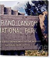 Grand Canyon Signage Canvas Print