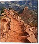 Grand Canyon South Kaibab Trail And Oneill Butte Vertical Canvas Print