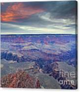 Grand Canyon Storm Set Canvas Print