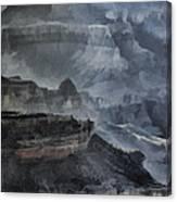 Grand Canyon Watercolor Canvas Print