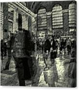 Grand Central Abstract In Black And White Canvas Print