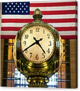 Grand Central Clock Canvas Print
