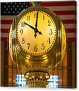 Grand Central Clock Canvas Print