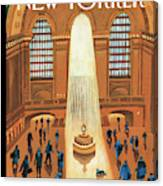 Grand Central Heating Canvas Print
