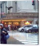 Grand Central Rain - 42nd Street Canvas Print