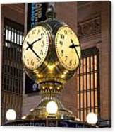 Grand Central Station Clock Canvas Print