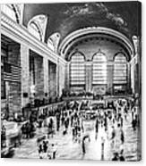 Grand Central Station -pano Bw Canvas Print