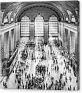 Grand Central Terminal Birds Eye View I Bw Canvas Print