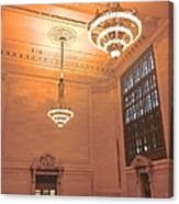 Grand Central Terminal Chandeliers Canvas Print
