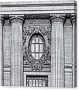 Grand Central Terminal Facade Bw Canvas Print