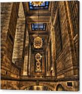 Grand Central Terminal Station Chandeliers Canvas Print