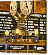 Grand Cerntral Terminal Clock No. 1 Canvas Print