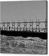 Grand Haven Light In Black And White Canvas Print