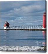 Grand Haven Winter Canvas Print