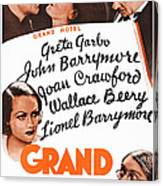 Grand Hotel, Us Poster, Top From Left Canvas Print