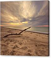 Grand Mere Sunset - Driftwood Canvas Print