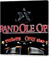 Grand Ole Opry Entrance Canvas Print