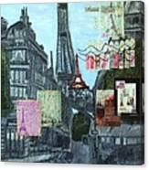 Grand Ole Paris-postcard From Paris Canvas Print