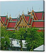 Grand Palace Of Thailand From Waterways Of Bangkok-thailand Canvas Print