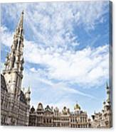 Grand Place In Brussels Belgium Canvas Print