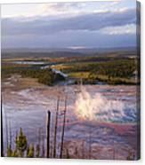 Grand Prismatic At Dusk Canvas Print