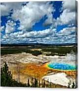 Grand Prismatic Pool Yellowstone National Park Canvas Print