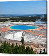 Grand Prismatic Spring From Above Canvas Print