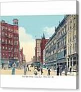 Grand Rapids - Michigan - Campau Square And Monroe Street - 1912 Canvas Print