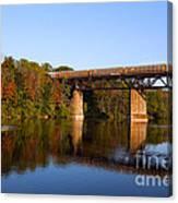Grand River Autumn Freight Train Canvas Print