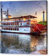 Grand Romance Riverboat Canvas Print