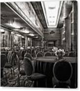 Grand Salon 05 Queen Mary Ocean Liner Bw Canvas Print