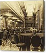 Grand Salon 05 Queen Mary Ocean Liner Heirloom Canvas Print