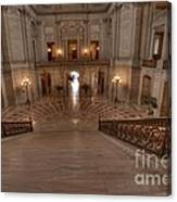 Grand Staircase S F City Hall Canvas Print